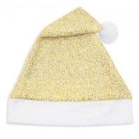 Cappello Natale Dorato Glitter