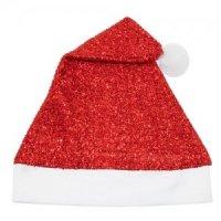 Cappello di Natale Glitter Rosso