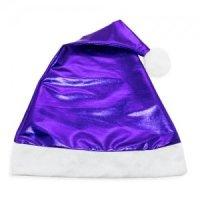 Cappello Natale Blu Metallizzato
