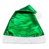 Cappello di Natale Verde Metallizzato