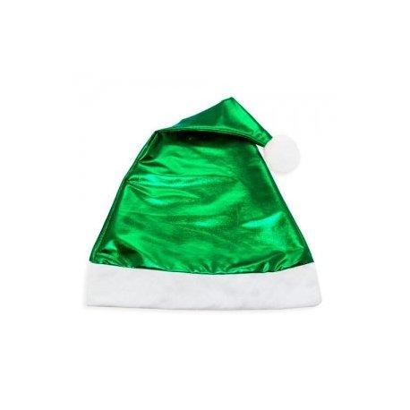 Gorro Navidad Verde Metalizado