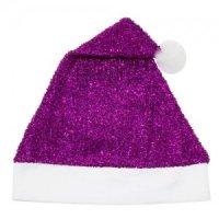 Cappello Natale Viola Metallizzato