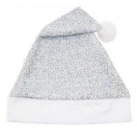 Cappello Natale Argentato Glitter