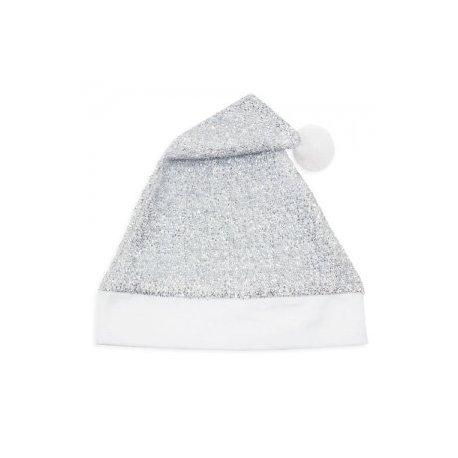 Gorro Navidad Plateado Purpurina