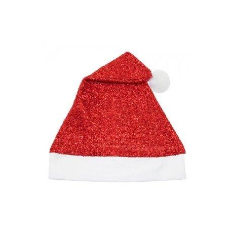 Gorro Navidad Purpurina Rojo